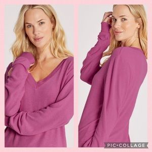 Wildfox Fuschia Jumper Sweater Deep V
